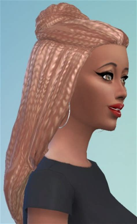 sims 4 bun braids sims 4 hairs birksches sims blog braid bun for her