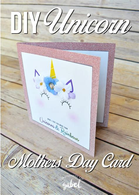 diy rugged s day card easy unicorn diy s day card