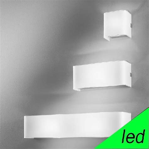 led applique applique da parete led design moderno linear white antea