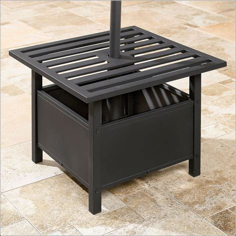 Patio Umbrella Stand Table Patio Umbrella Stand Table Crunchymustard