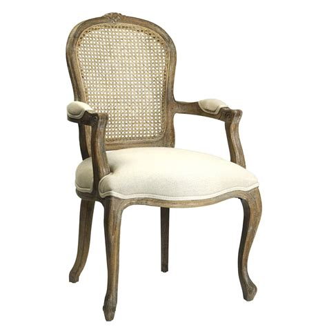 Country Armchair by Lyon Country Back Linen Dining Arm Chair Arm