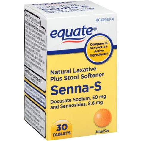 Senna Laxative Stool Softener by Equate Senna S Laxative Plus Stool Softener