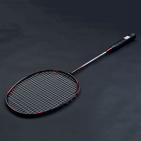 Raket Carbon 6u light badminton racket all carbon 22 30lbs high quality offensive and defensive