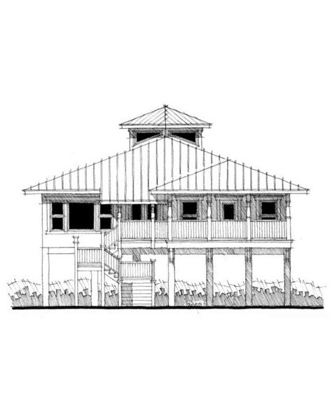 Beach House Plans On Pilings House Plan Dt0067 Sea Coastal House Plans On Pilings