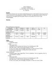 sle organic chemistry lab report chem 3105 organic chemistry tech page 1