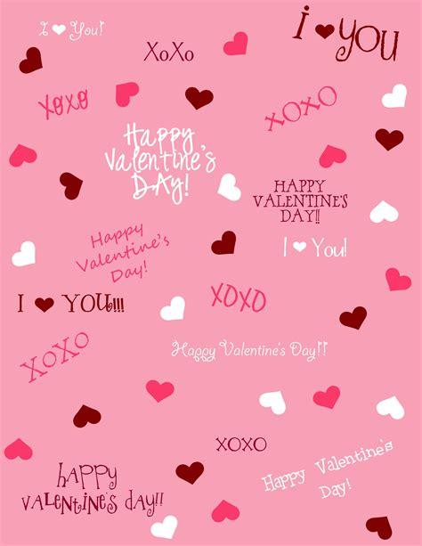 valentines paper printable crafts paper