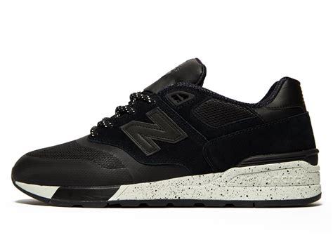 Black New Balance lyst new balance 597 in black for
