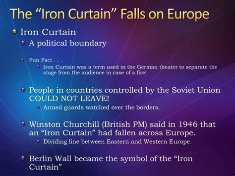 how is the iron curtain a dividing line ppt modern europe powerpoint presentation id 2341704