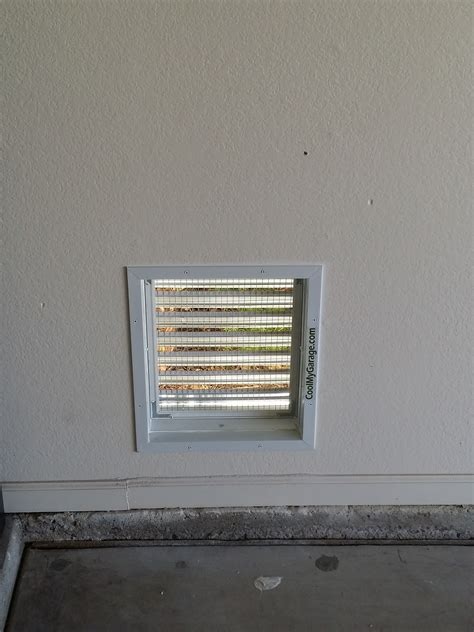 wall air intake ventilation vent cool  garage