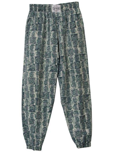 pattern baggy jeans 1980 s pants captains world tour callbox usa 80s