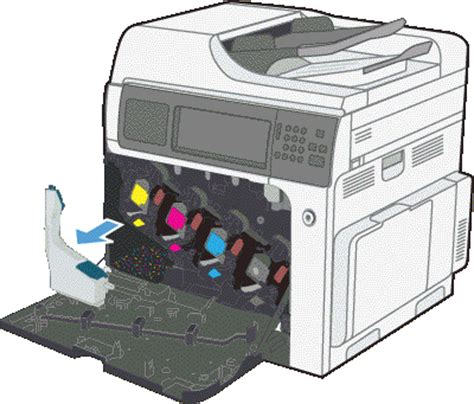 Custom Hp Collection hp color laserjet enterprise cm4540 mfp product series replace the toner collection unit hp
