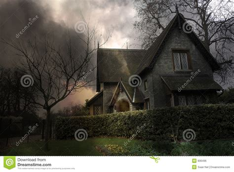 haunted house 3 haunted house 3 stock photo image of city scare cloudy 906496