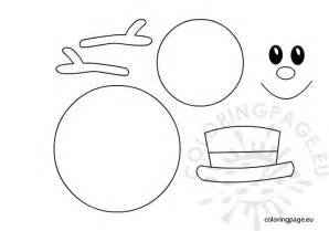snowman templates free coloring pages of snowman template