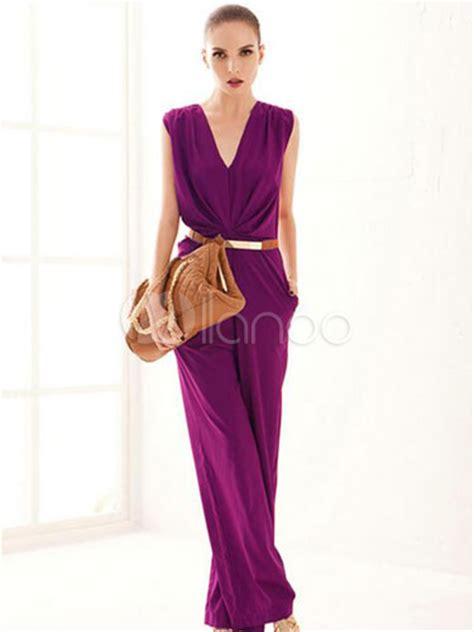 Sale Pedro Pointy Heels Ori purple jumpsuit wide leg v cotton jumpsuit for
