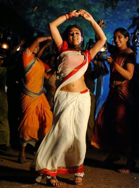 nayanthara hot saree navel nayanthara in white saree hot stills film actress plus