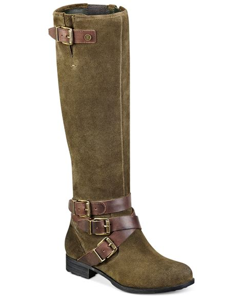 marc fisher boots lyst marc fisher noreene boots in green