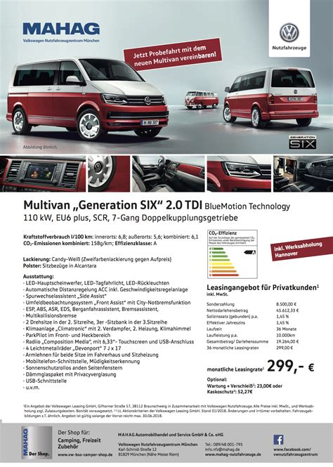 Vw Auto Leasing by Volkswagen Multivan Leasing Angebote Gt Mahag