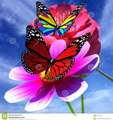 imagenes con mariposas bonitas flor y mariposa hermosas foto de archivo imagen de jard 237 n