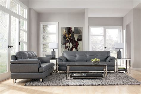 Wonderful Gray Living Room Furniture Designs Grey Living Room Ideas With Leather Sofa