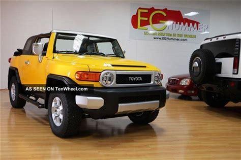 convertible toyota truck 2008 toyota fj convertible 4x4 yellow truck