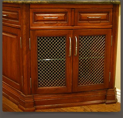 wire mesh cabinet doors wire mesh grille inserts for accent cabinet doors walzcraft