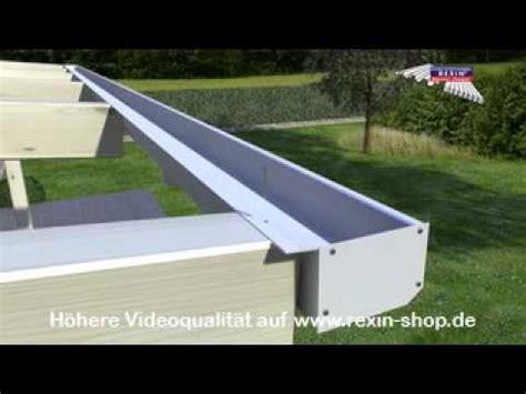 terrassendach ohne wandbefestigung 3d aufbauanleitung terrassendach 3 regenrinne