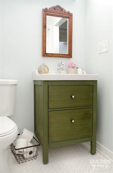 ikea bathroom vanity update on the update the golden