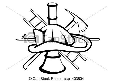 drawing of firefighter symbol a firefighter symbol