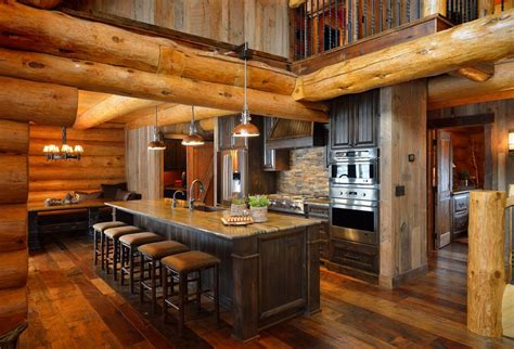 log cabine log cabin kitchens islands www pixshark images