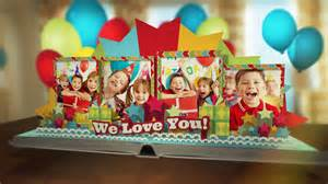 happy birthday pop up template birthday pop up book after effects template fluxvfx