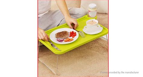 bed food tray foldable plastic notebook laptop small desk bed food tray