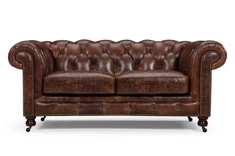 canap 233 chesterfield en cuir kensington 2 places