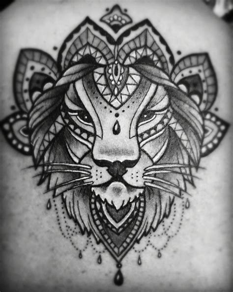 black  lion mandala tattoo  tattoos mandala tattoo lion tattoo