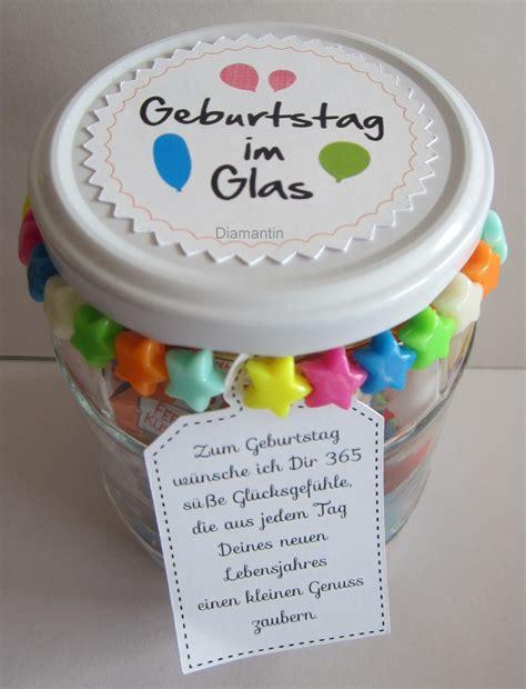 geschenke unter 2 geburtstag im glas geschenk ideen