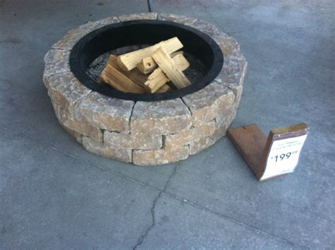backyard fire pit lowes lowe s fire pit kit 199 outdoors pinterest patios