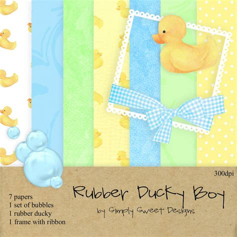 digital scrapbooking freebies and kits rubber ducky boy