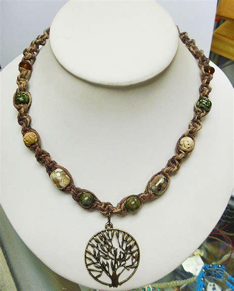 Handmade Wiccan Jewelry - tree of hemp necklace handmade jewelry hippie