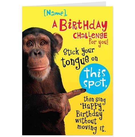 printable happy birthday cards funny 6 best images of funny printable birthday cards for
