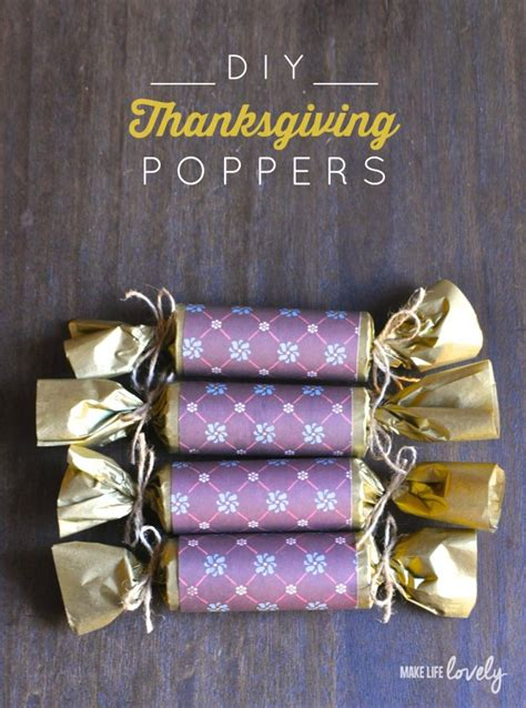 Diy Thanksgiving Poppers