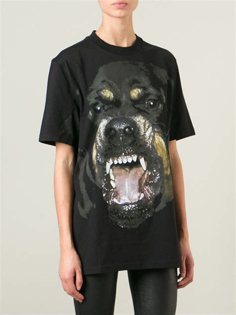 givenchy black rottweiler shirt givenchy rottweiler t shirt in black lyst