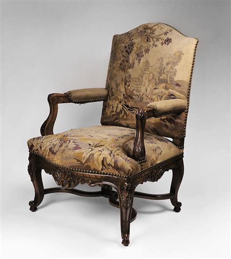 carved armchair carved 19th c louis xv armchair with aubusson tapestry