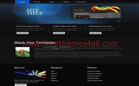 black grunge business free html website template
