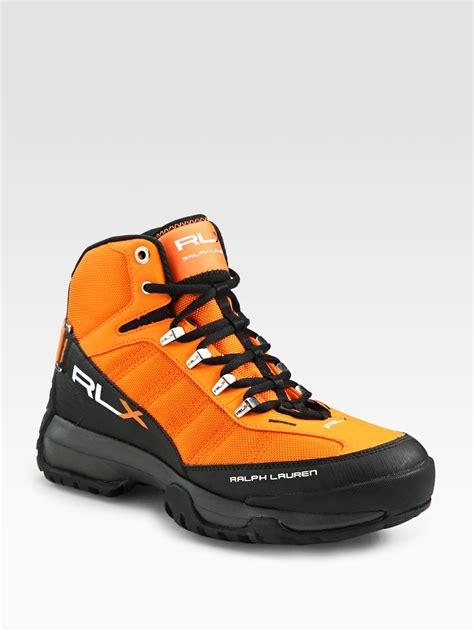 orange sneakers rlx ralph hightop sneakers in orange for lyst