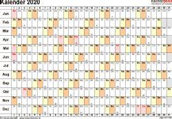 vorlage  kalender  fuer excel querformat  seite tage linear knutselen