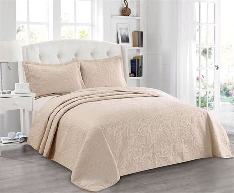 coverlet king size 3 piece embossed medallion coverlet bedspread queen king