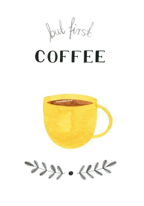 coffee print wallpaper but first coffee watercolor print coffee by