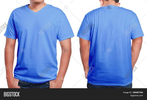 design t shirt front and back blue t shirt mock front back view image photo bigstock