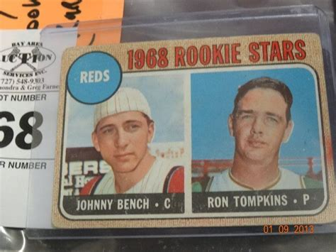 johnny bench rookie 1966 johnny bench rookie card