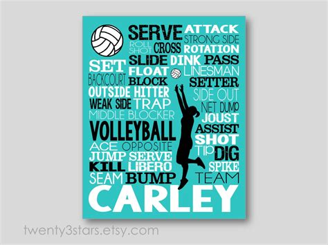 printable volleyball sayings volleyball typography art print perfect for girl s by