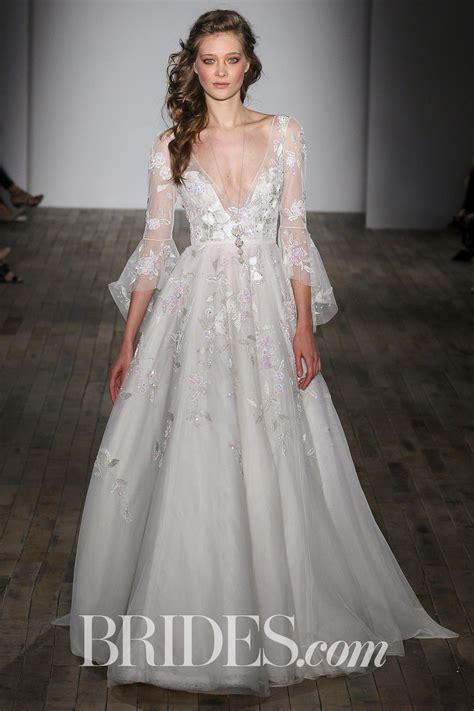 hayley paige bridal dresses wedding photos refinery29 hayley paige bridal spring 2018 quot rogers quot ivory ball gown